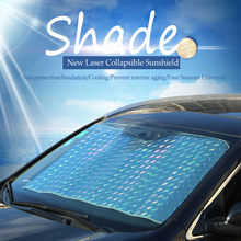 car accessories interior Car Foldable Windshield Laser film Visor Cover Front Rear Block Window SunShade sun block window film(China)