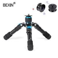 BEXIN-Mini trípode con cabeza de bola para cámara de viaje, soporte para teléfono inteligente, dslr