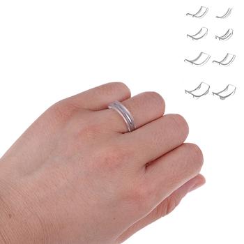 Gorąca sprzedaż 8 10 12 sztuk zestaw nowy niewidoczny regulator rozmiaru pierścionka dla luźnego pierścienia rozmiar reduktor Spacer pierścień straż hurtownie tanie i dobre opinie HWetR Brak Kobiety Silikon Na co dzień sportowy Koktajl pierścień Nieregularne Ring Size Adjuster Party