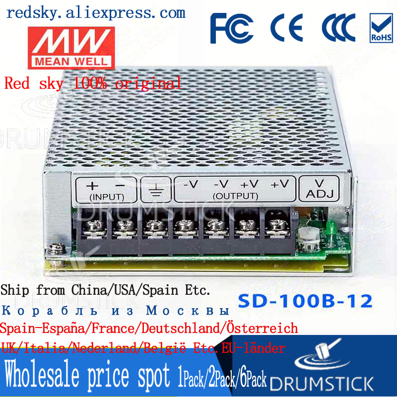 nice MEAN WELL 2Pack SD-100B-12 12V 8.5A meanwell SD-100 12V 102W Single Output DC-DC Converter