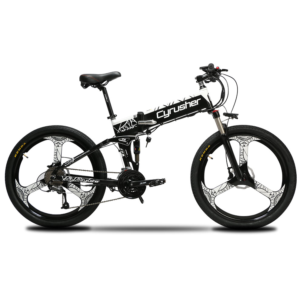 XF770 Folding Electric Mountain Road Bike 48V 500W 10ah full suspension Magnesium Alloy Wheelset ebike Mechanical Disc Brake