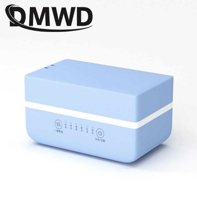 DMWD Электрический нагревательный Ланч-бокс мини суп тушеный горшок рисоварка керамический контейнер для еды Bento Ланчбокс каша подогреватель пищи - Цвет: Blue intelligent