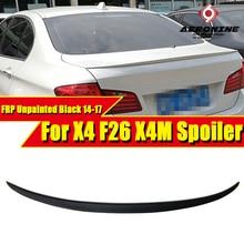 F26 X4 sedan duckbill X4M Style FRP Unpainted wings trunk Lip spoiler For BMW XSeries Rear Diffuser wing 2014-2017
