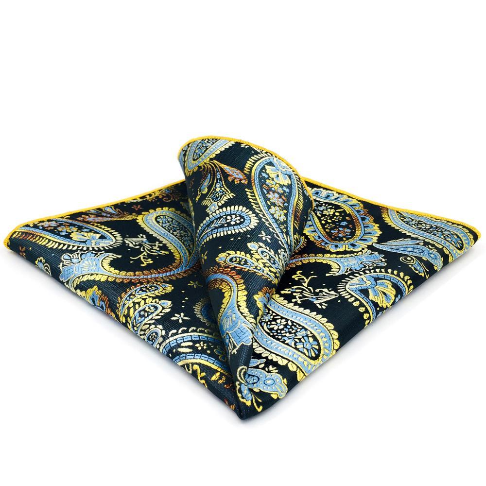 GH10 Multicolor Paisley Mens Pocket Square Silk Classic Handkerchief Designer Business Hanky