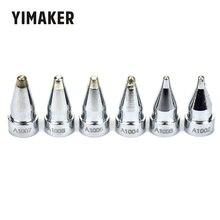 YIMAKER A1002 A1003 A1004 A1005 A1006 A1007 6PCS Desoldering Gun Leader Free Solder Tip For Hakko 802 808 809 807 817