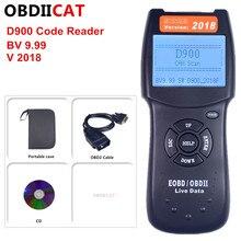 OBDIICAT يمكن مسح D900 V2018 OBD2 Canbus لايف PCM رمز البيانات قارئ الماسح الضوئي السيارات رمز EOBD أداة تشخيصية