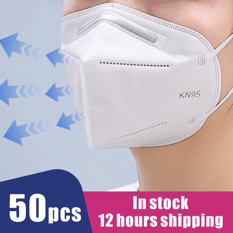 50 Pcs Medical KN95 Surgical  Protection Breathable Face Masks  Filtration N95 Masks Features As KF94 FFP2