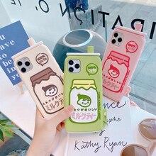 Ins 3D karikatür sevimli süt şişesi 360 için tam arka kapak iPhone 12 Mini 11 Pro Max XS MAX X XR 8 7 6 artı SE 2020 telefon kılıfı