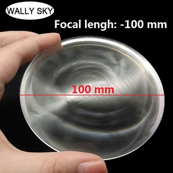 Acrylic LED Optical Lens Negative Focal Length Round Fresnel Lens Diameter 100 mm Focal Length -100 mm For Experimental Teaching 1pcs lot 200 170 mm rectangle diy projector fresnel lens focal length 185mm high concentrated support customized free shipping