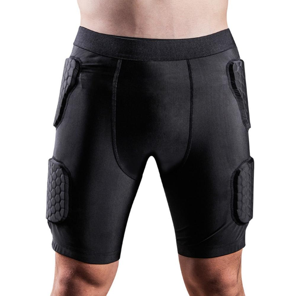 Adult Men Anti-shock Padded Compression Shorts Hip And Thigh Protector For Football Paintball Basketball Ice Skating Hockey