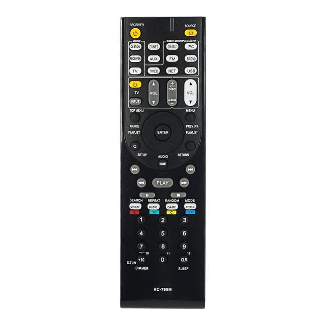 Télécommande adapté pour onkyo RC 799M AV HT R391 HT R558 HT R590 HT R591 HT S5500 RC 834M RC 737M RC 812M RC 801M RC 803M