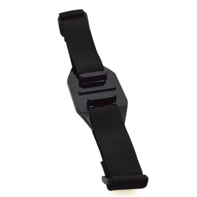 Accesorios de montaje ventilado soporte de acción cinturón ajustable Cámara deportiva negro casco Correa fácil de instalar vídeo duradero para GoPro