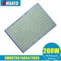 200 Вт 100% полномощный Светодиодный прожектор печатная плата SMD5054/2835/5730 алюминиевая пластина основание  светодиодный источник освещения для с...