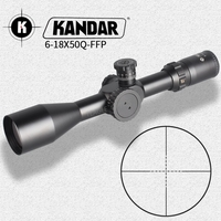 Hunting Riflescope 6 18X50 FFP Scope With Red Dot First Focal Plane Optics With 11 or 20MM Rail Black Rifle Scope