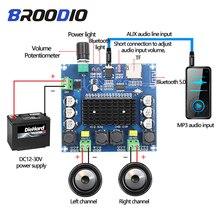 Tda7498 placa de amplificador bluetooth duplo canal 2x100w áudio digital classe d amplificadores estéreo apoio tf cartão aux teatro em casa