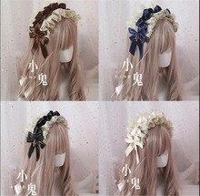 Vintage Zoete Lolita Kant Boog Hoofddeksels Maid Haarband Haar Accessoires Hoofdbanden Elegante Prinses KC Hoofdtooi B459