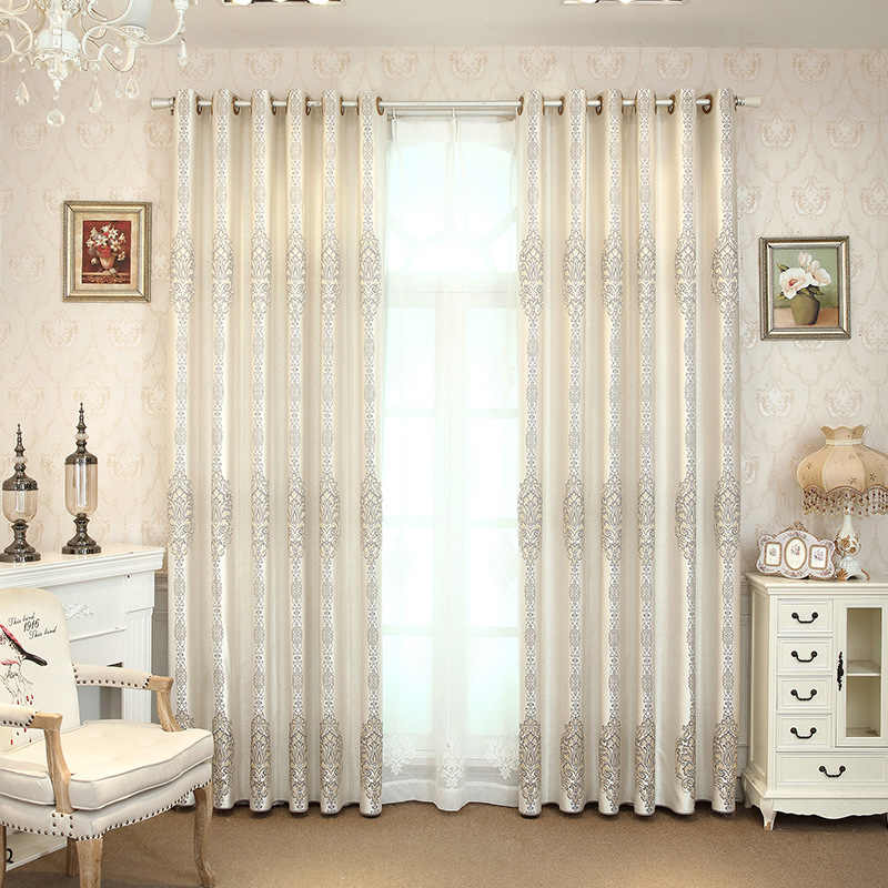 New Gray Curtains for Living Dining Room Bedroom Plain High Precision Jacquard Blackout Curtains