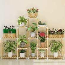 Деревянная Цветочная стойка, подставка для растений, многослойная Цветочная стойка, полки для балкона, Цветочная полка, кофейная стойка для внутреннего сада, деревянная подставка для растений