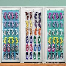 Подвесная сумка для хранения обуви с 24 дверцами мешок сортировки