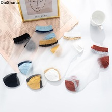 Women Socks Thin Candy-Color Girls Female Summer Cute 5-Pairs Ladies New Breathable Lovely