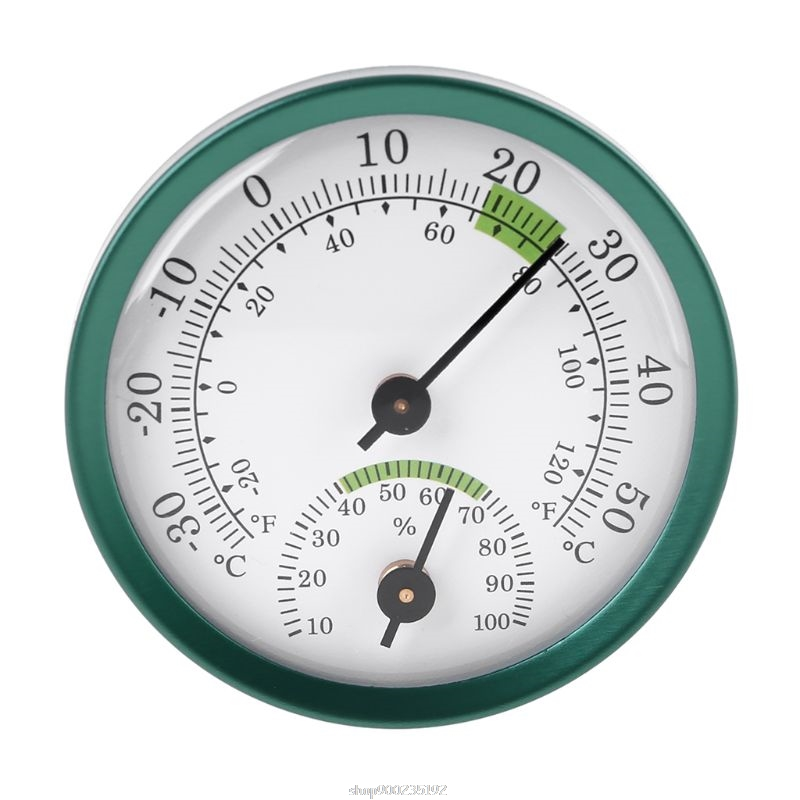 Household Wall Mount Thermometer Hygrometer Mechanical No battery Mini Temperature Humidity Meter Gauge S23 20 Dropship