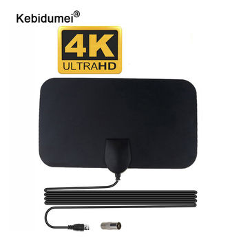 kebidumei High Quality 4K 25dB High Gain HD TV DTV Box Digital TV Antenna 50 Miles Booster Active Indoor Aerial HD Flat Design 1