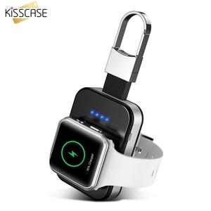 Image 1 - KISSCASE oryginalna bezprzewodowa ładowarka do kluczy Apple i Watch 1 2 3 4 950 mAh przenośna ładowarka bezprzewodowa Power Bank do zegarka