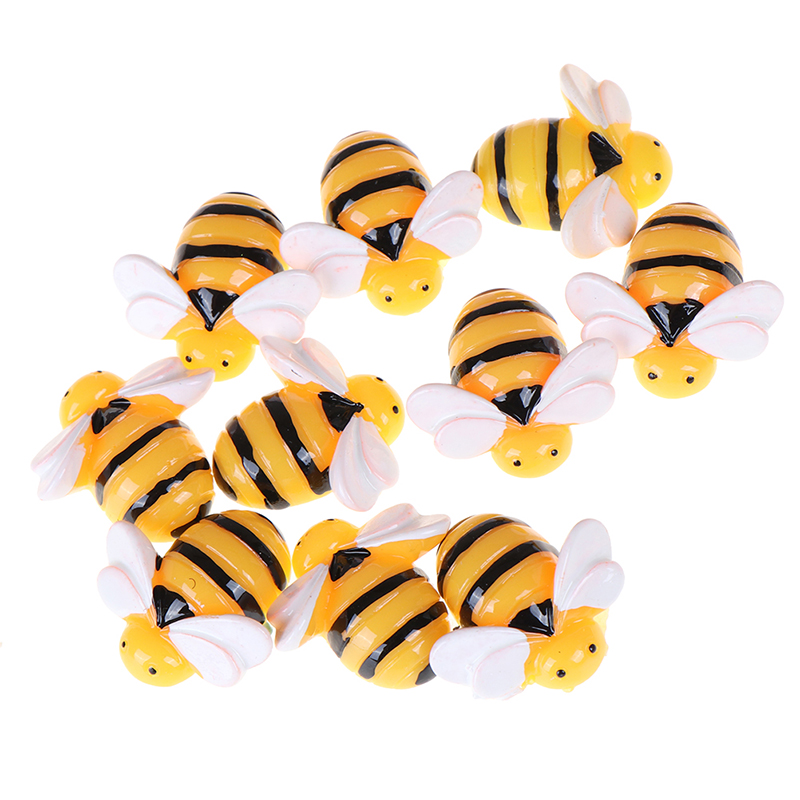 10 Pieces Flat Back Resin Cabochon Animal Bee DIY Flatback Scrapbooking Accessories Embellishment Decoration Craft Making 20mm