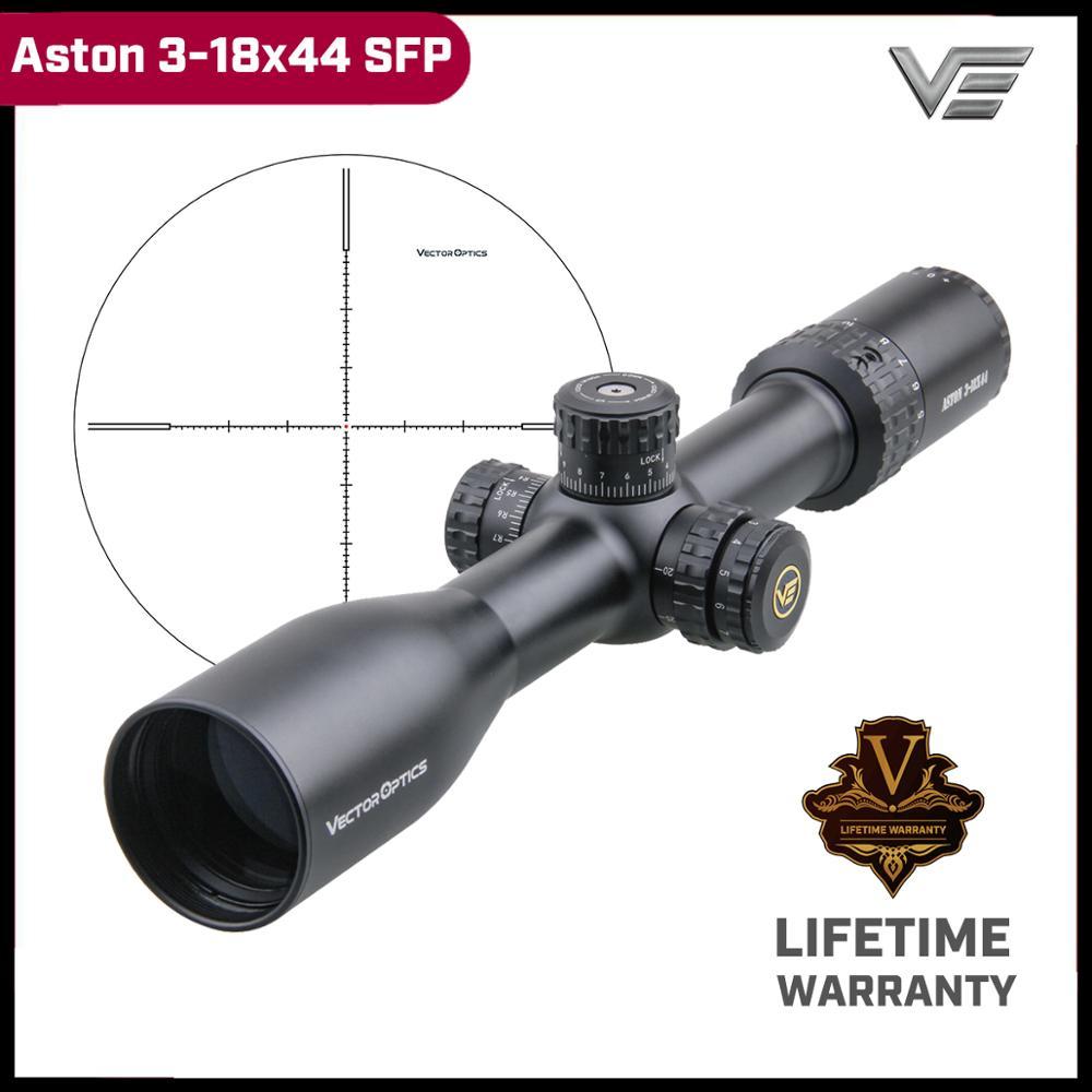 Vector Optics Aston 3-18x44 Tactical Riflescope> 90MOA Range Hd Glas Sys Moa Richtkruis Nemen Lapua Magnum Terugslag