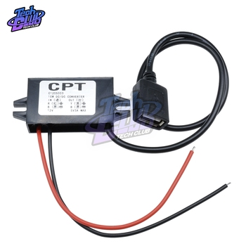 цена на DC-DC 12V To 5V Converter Module 3A 15W Double USB Step Down Power Output Adapter Car Potting Waterproof Power Supply Module