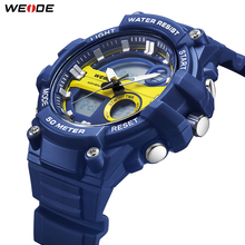 цена на WEIDE Fashion Outdoor Sport Watch Military Numeral Digital Watches 50 Meters Water Resistant Quartz Analog Hand Men WristWatches
