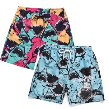 Men's Shorts Men's Beach Shorts Men's Shark 3D Printed Shorts Men's Hawaiian Shorts Men's Quick Dry Shorts Tailored Shorts фото