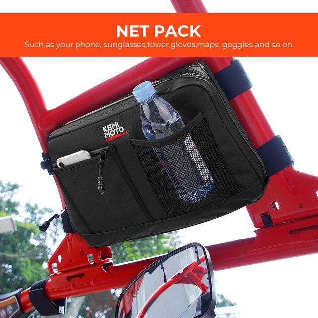 KEMiMOTO Overhead Storage Bag For Can Am Maverick X3 UTV Bag Over head Roof tent Bag 2017 2018 2019 2020 2021