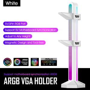 Image 4 - Darkflash Graphics Card Bracket vga Holder Jack Desktop Computer Case 5V3Pin ARGB Video Card GPU Water Cooling Kit Support Stand