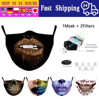 Leopard Lips Print Cotton Mouth Masks Washable Reusable Adult Facemask PM2.5 Filter Windproof Mascarilla