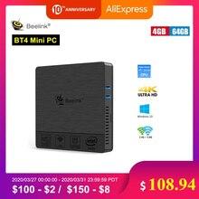 Beelink BT4 New Desktop Mini PC Intel Atom X5-Z8500 LPDDR3 4GB 64GB 2.4G/5G Dual WIFI BT4.0 Support 4K Dual-Screen Media Player