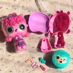 Pop волос сюрприз Домашние любимцы куклы для девочек 3 в 1 Magic Pop парикмахерская расческа ролик кукла с аксессуарами, комплект, подарок на Рожде...
