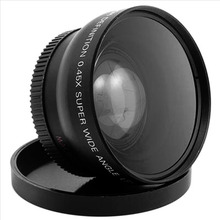 лучшая цена 1set Professional 52MM 0.45x Wide Angle Macro Lens for Nikon D3200 D3100 D5200 D5100 Black Super Wide Angle