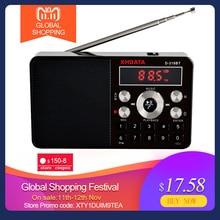 XHDATA D 318 BT FM Stereo Radio Mini Multifunktions Tragbare Radio Empfänger Unterstützung Drahtlose Telefon Anrufe A B Bluetooth Radio