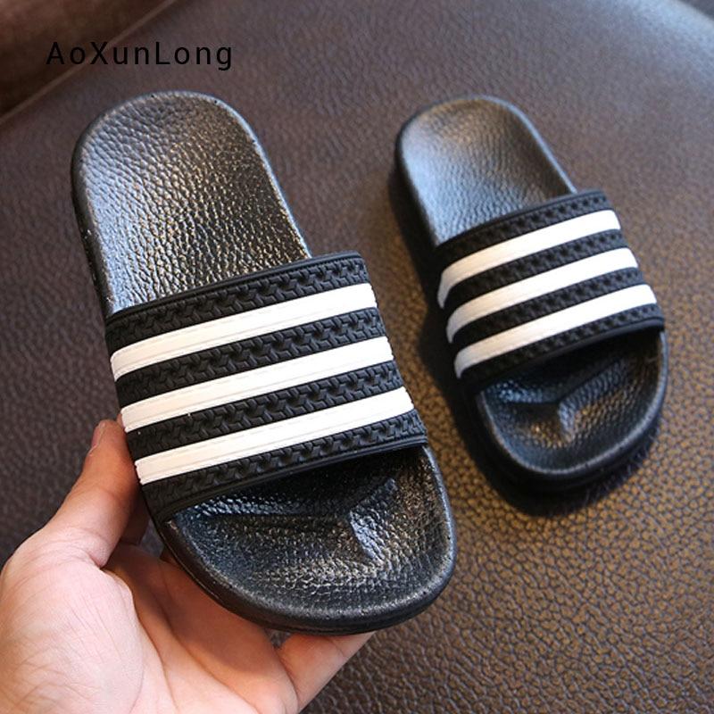 Bathroom Slippers Sandals Striped Wholesale Slides Men's Summer Indoor Home New Flat