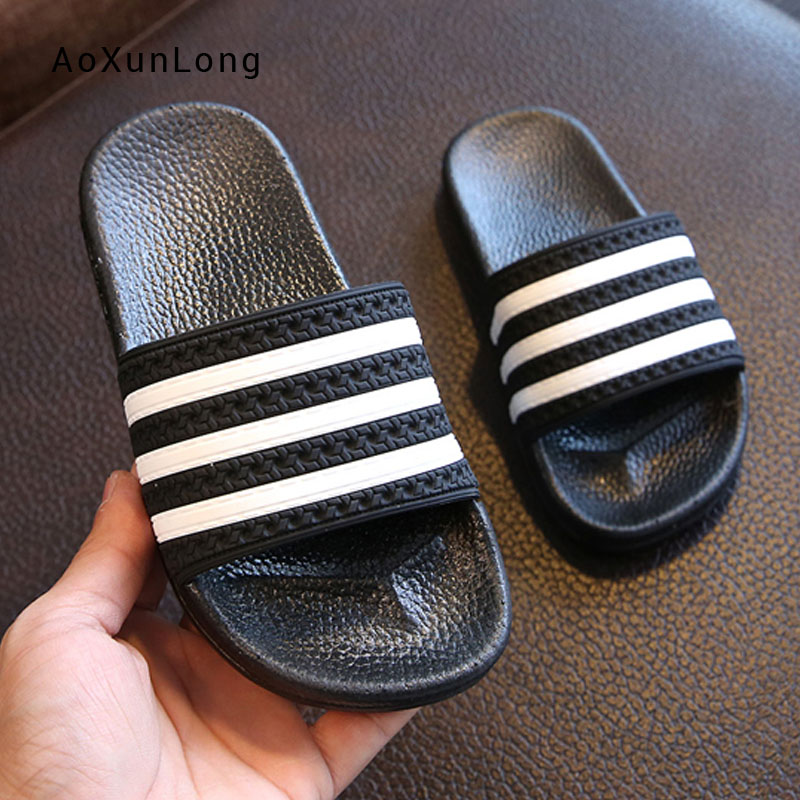 Men's Bathroom Slippers Summer Home Indoor Striped Slides Shoes Comfort Flat PVC Sole Non slip Flip flops Wholesale Beach Shoes|Slippers|   - AliExpress