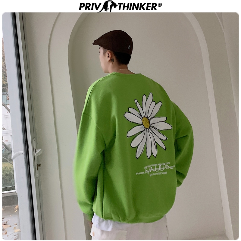 Privathinker Men 2020 Harajuku Spring Hoodies Unisex Fashion Pullover O-Neck Sweatshirt Male Fashions Print Clothes Oversized