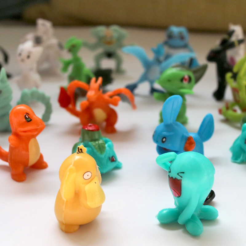24/48/72/96/120/144/168/192 Pieces No Repeat TV Anime Toys Collection Dolls Action Toy Pokemonal Figures Model Children Gift