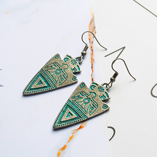 2019 boho green triangle vintage ethnic fashion earrings Dangle Drop Earrings for Women wedding gifts indian Jewelry Accessories цена 2017