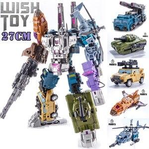 Image 1 - Dönüşüm Bruticus 5IN1 G1 PT05 PT 05 boy 27CM Anime aksiyon figürü Robot çocuk oyuncakları kombinasyon deformasyon koleksiyonu