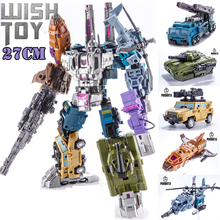 Transformation Bruticus 5IN1 G1 PT05 PT 05 Oversize 27CM Anime Action Figure Robot Kids Toys Combination Deformation Collection