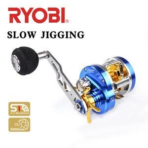 Image 1 - RYOBI Angeln Reel 10 + 1BB 6,8: 1 Baitcasting W30 Rechts Links Griff Max Drag 12KG Angeln Reel Köder Casting Salzwasser Trommel Rad