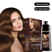 Dye Shampoo Covering-Hair Hair-Dye Permanent Instant Black Natural 500ml Argan Essence
