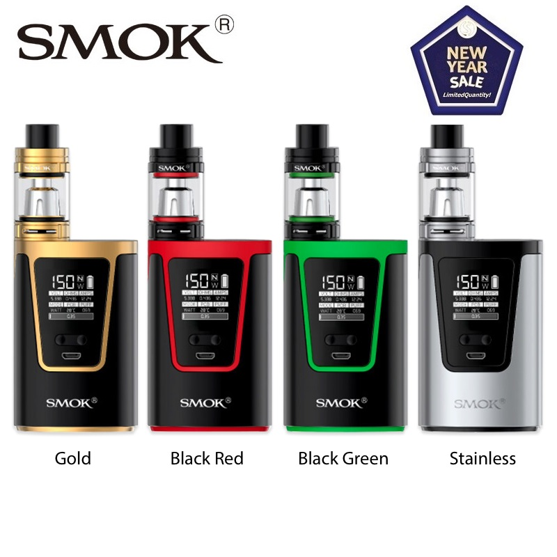 Original 150W SMOK G150 Vape Kit With 2ml TFV8 Big Baby Tank & 4200mAh G150 Box MOD Vape Kit Vs Drag 2/ Swag 2/ Gen Kit/ G Priv