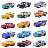 Disney Pixar-Coche de juguete de Cars 3, Rayo McQueen Mater Jackson Storm Ramirez 1:55, vehículo fundido a presión n. ° 92
